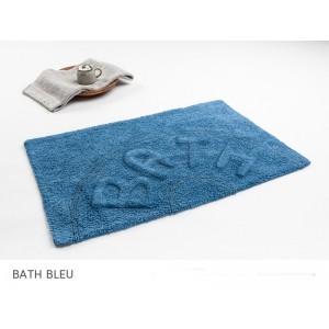 Modrá bavlnená kúpeĺňová predložka
