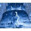 Modré obliečky na posteľ z mikrovlákna s kozmonautom
