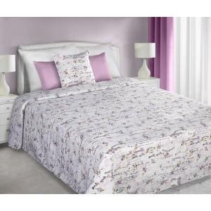 Obojstranné prehozy bielo ružovej farby na manželskú posteľ Beautiful Rose