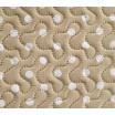 Prehozy na manželskú posteľ obojstranné béžovej farby s bielymi malými bodkami