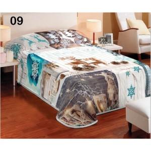 Biela prikrývka na posteľ v zimnom štýle