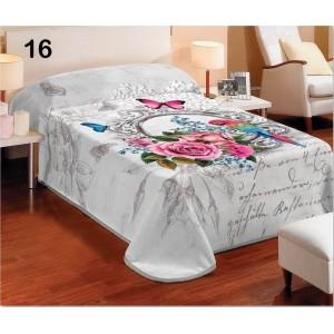 3D deka a prehoz bielej farby s kvetinovým motívom