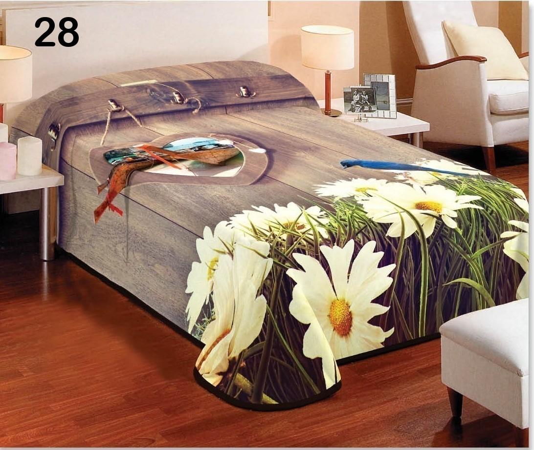 DomTextilu Hnedá deka do spálne na jednolôžko s kvetmi Šírka: 155 cm   Dĺžka: 220 cm 5620-15056