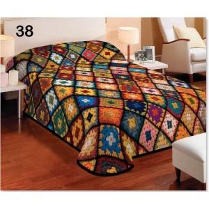 Farebné prehozové deky s motívom patchwork