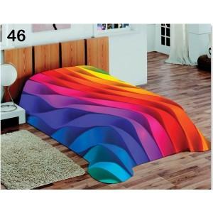 Farebná luxusná deka s 3D efektom dúhy