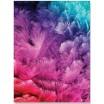 Dekoračná deka a prikrývka vo fialovej farbe so vzorom modro fialových pierok