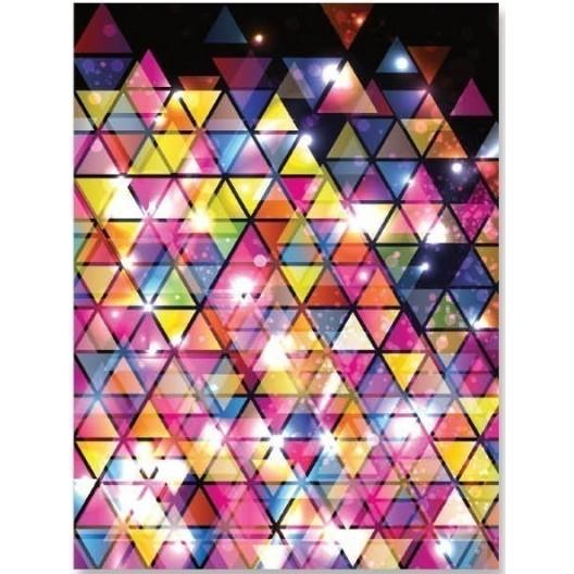 Farebná dekoračná prikrývka v disco štýle