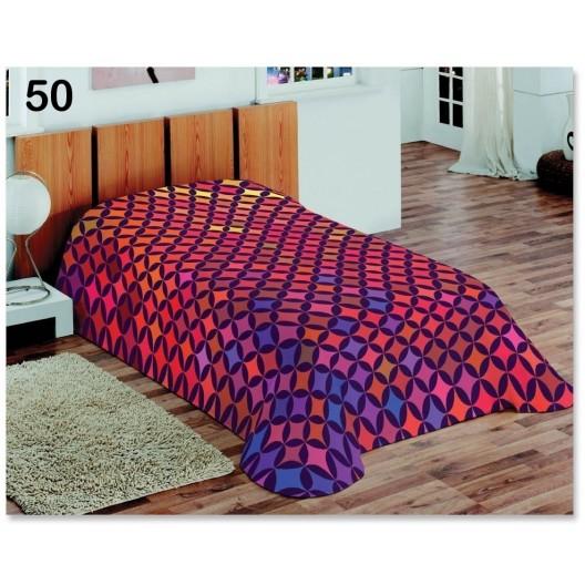 Farebné poťahy na postele s maličkými hviezdičkami