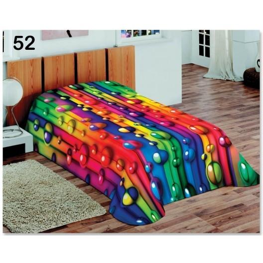 Luxusná farebná deka s motívom dúhových bublin