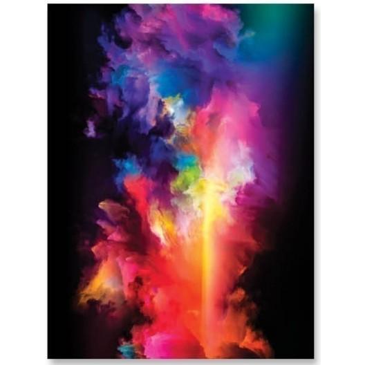 Prehozové deky čiernej farby s motívom farebnej galaxie