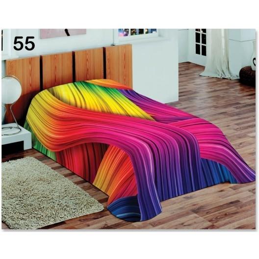 Farebné prikrývky na sedačky s dúhovým vzorom