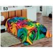 Farebná teplá prikrývka  na posteľ pre deti s motívom farebných kvetov