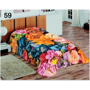 Luxusná farebná deka s 3D efektom farebných kvetov