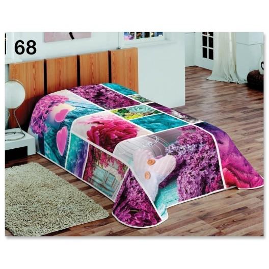 Dekoračná deka a prikrývka vo fialovej farbe