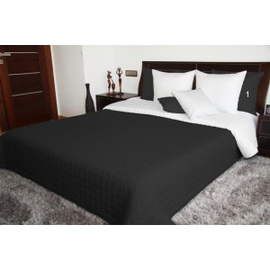 Čierno biely obojstranný prehoz na posteľ prešívaný