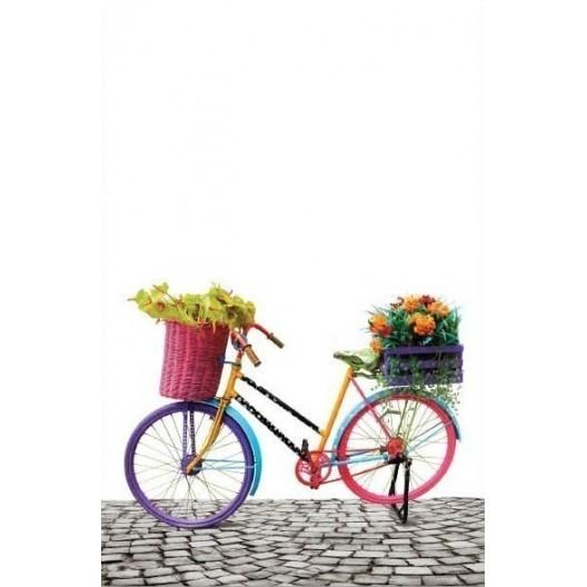 Deka bielej farby s 3D efektom bicykla