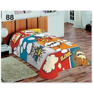 Farebné dekoračné prikrývky a deky s detským motívom