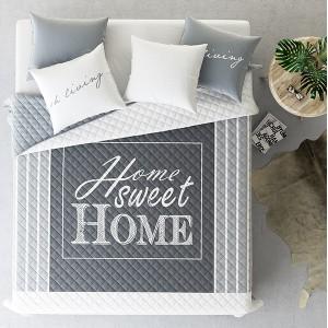 Sivý prehoz na dvojlôžko SWEET HOME