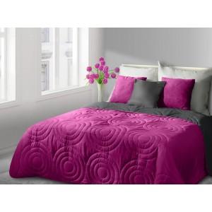 Prehoz na manželskú posteľ obojstranný v ružovej farbe