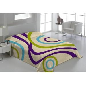 Deky na postele v krémovej farbe s pruhmi