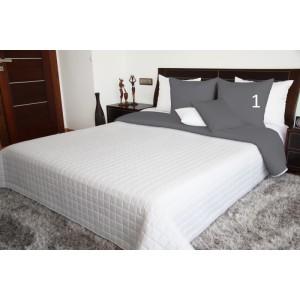 Biele obojstranné prikrývky na posteľ