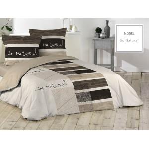 Bavlnené posteľné obliečky v krémovej farbe