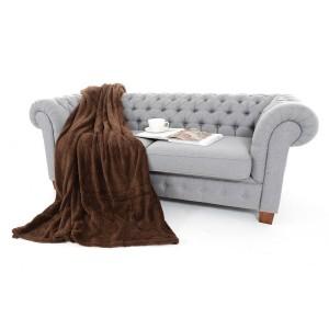 Dekoračná deka a prikrývka v tmavohnedej farbe