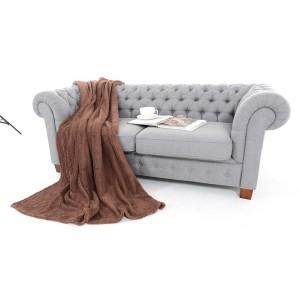 Svetlohnedé deky na sedačky