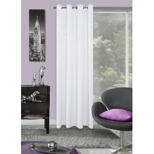 Moderné hotové závesy bielej farby do okien