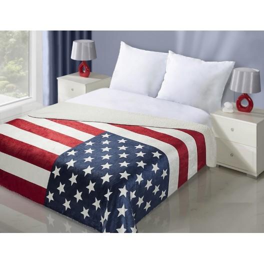 USA vlajka prehoz na posteľ