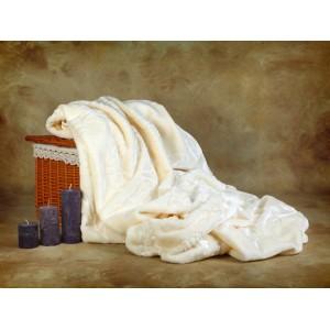 Luxusné deky z akrylu 200 x 240cm biela č.5