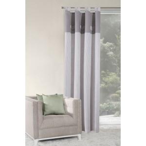 Moderný hotový záves sivej farby jednodielny