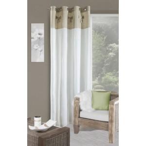 Bielo béžový elegantný záves na okno
