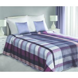 Obojstranná prikrývka na manželskú posteľ fialovej farby