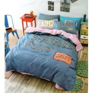 Luxusné posteľné obliečky v modro ružovej farbe detské