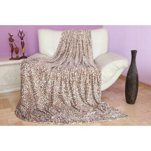 Luxusné deky sivo hnedej farby