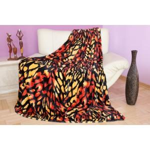 Moderná čierno červená teplá deka