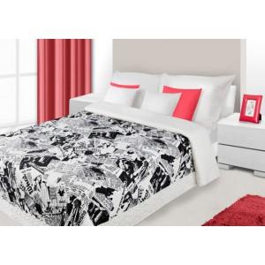 Štýlové prehozy na detskú posteľ bielo čierne