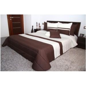 Kvalitné prikrývky na manželskú posteľ krémovo hnedej farby