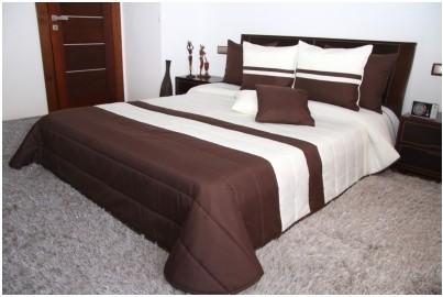 Kvalitné prikrývky na manželskú posteľ krémovo hnedej farby Šírka: 240 cm   Dĺžka: 260 cm Hnedá