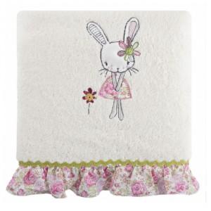 Krémové bavlnené osušky pre dievčatá