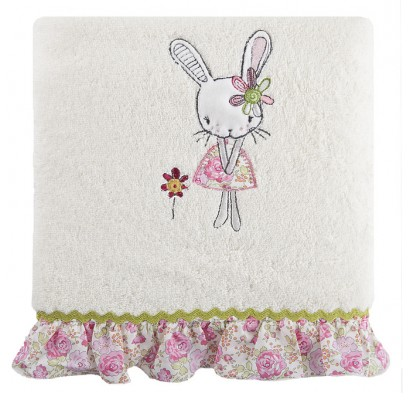 DomTextilu Krémové bavlnené osušky pre dievčatá Šírka: 50 cm | Dĺžka: 90 cm 6914-19074