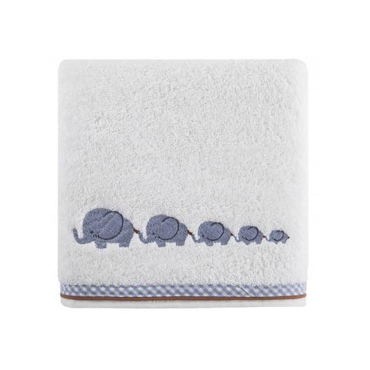 Biele uteráky pre bábätká so sloníkmi