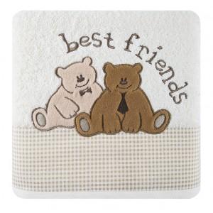 Krémový uterák pre bábätká BEST FRIENDS