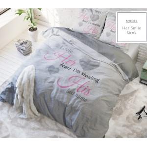 Moderná súprava posteľných obliečok 140 x 200cm v sivej farbe