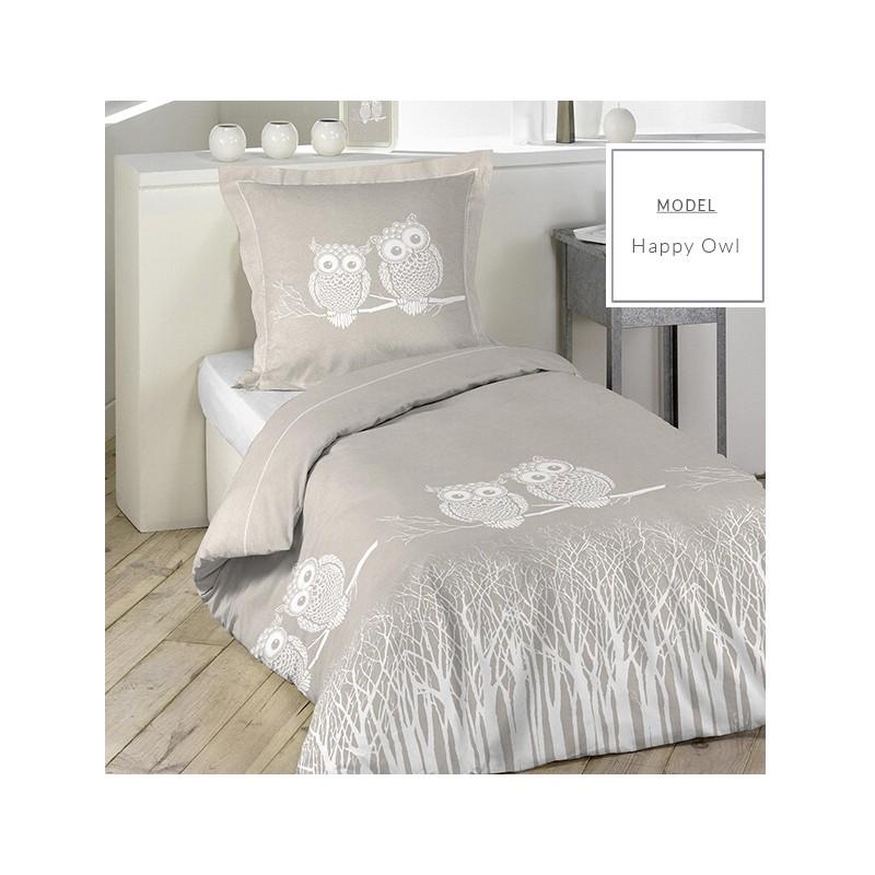 dc83750941064 Sivé detské posteľné obliečky 140cm x 200cm so vzorom sovičiek ...