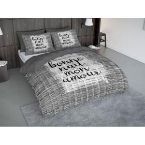 Sivé posteľné obliečky do spálne