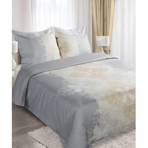 Bavlnené strieborné posteľné návliečky so vzorom