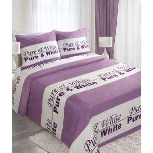 Fialové posteľné obliečky z bavlny 160x200 cm