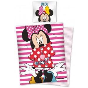 Dievčenské bavlnené posteľné obliečky s motívom Minie